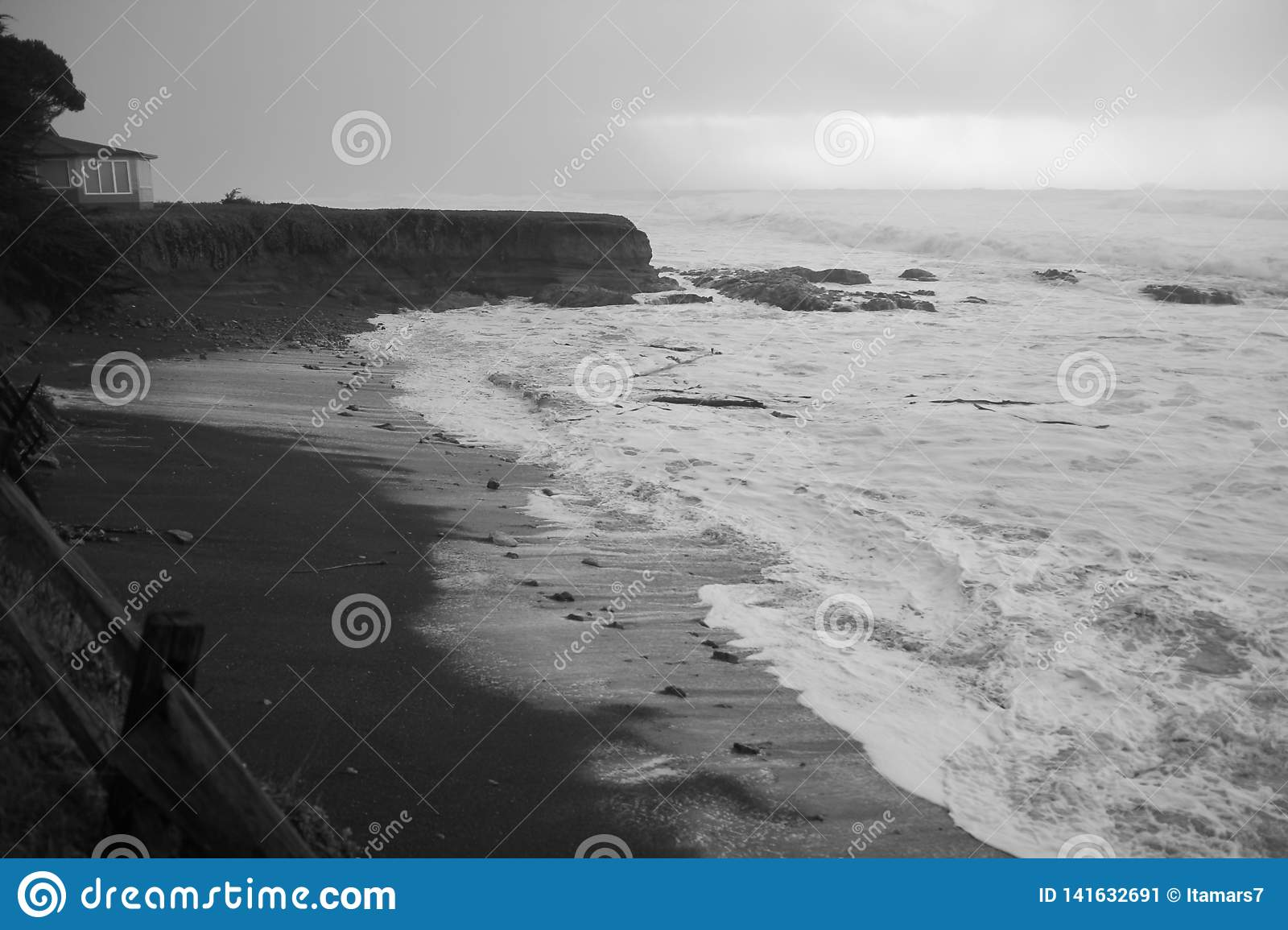 Shelter cove, California. A stormy day.