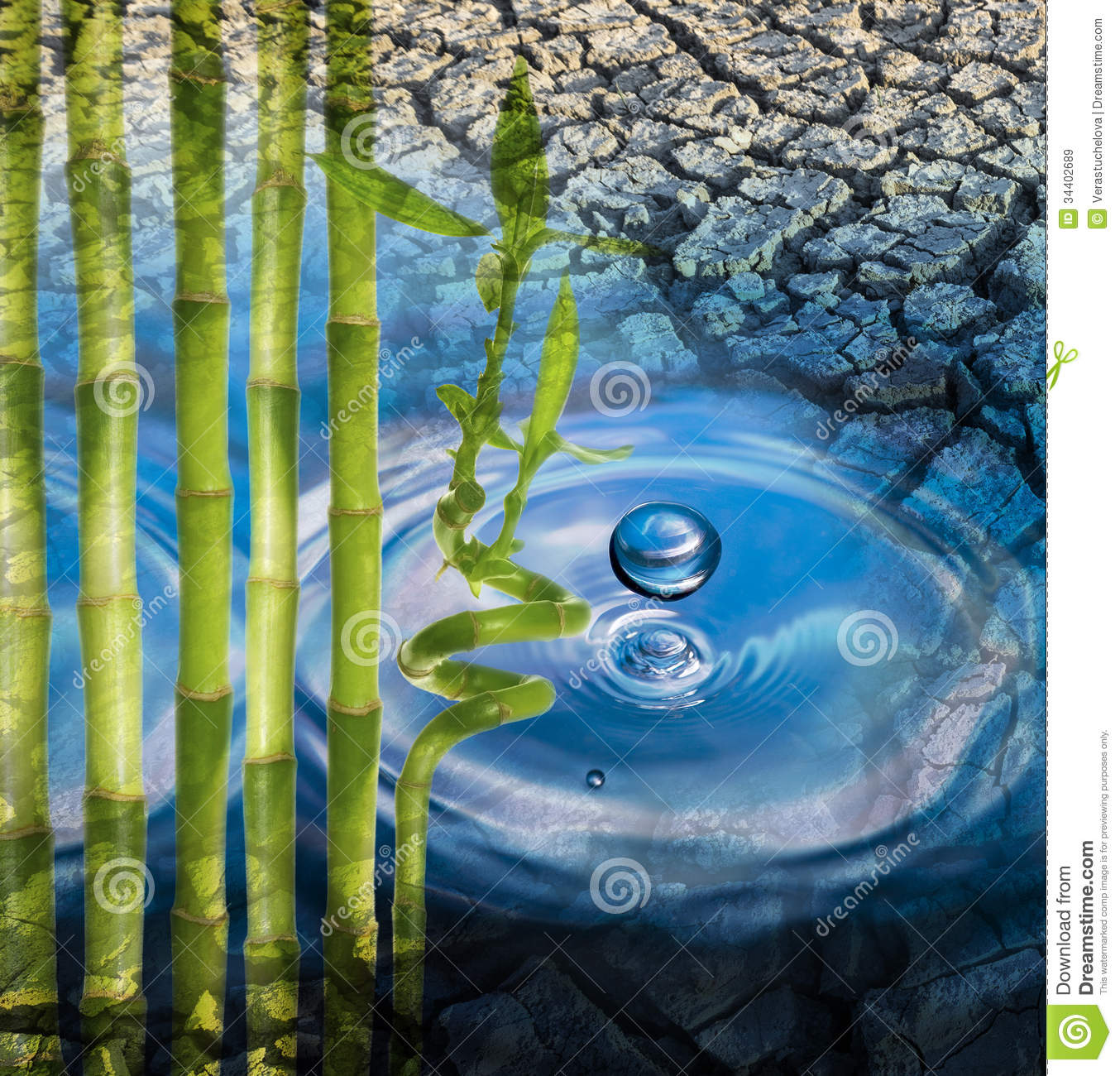 Rain Drop And Dry Earth Royalty Free Stock Images