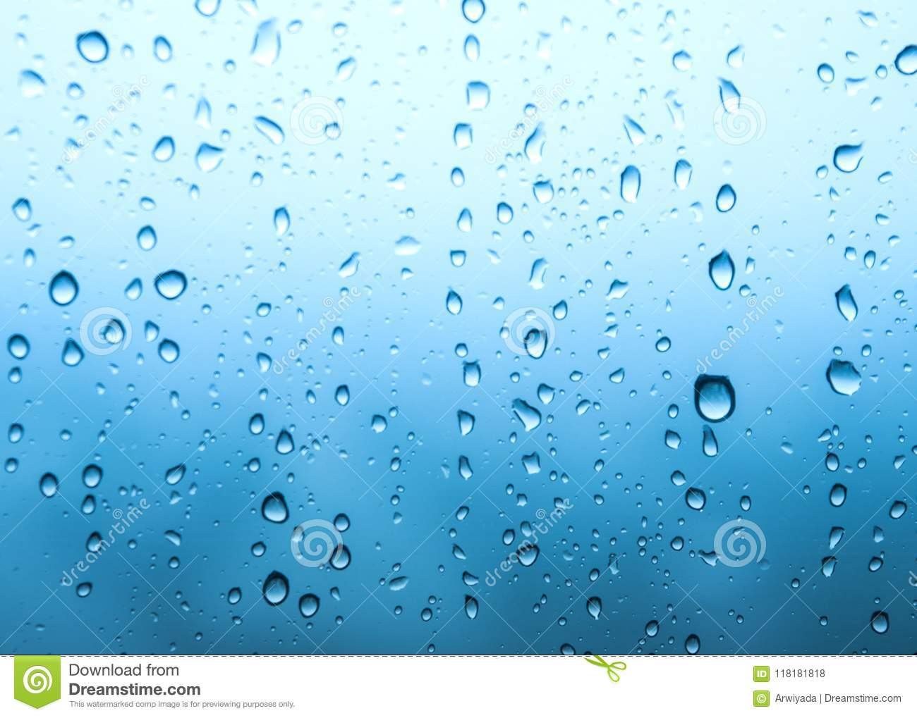 Rain Drops Water Background Of Green Wallpaper On Rainy Day O