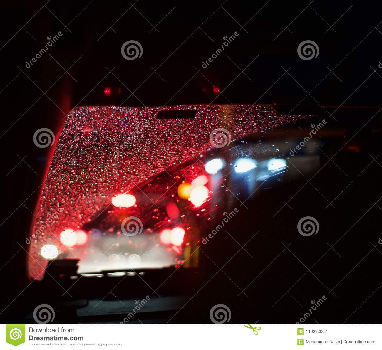 Download Rain Drops Of Water Fallen On A Vehicle Front Glass Unique Photo Stock Photo - Image of water, cars: 119293002