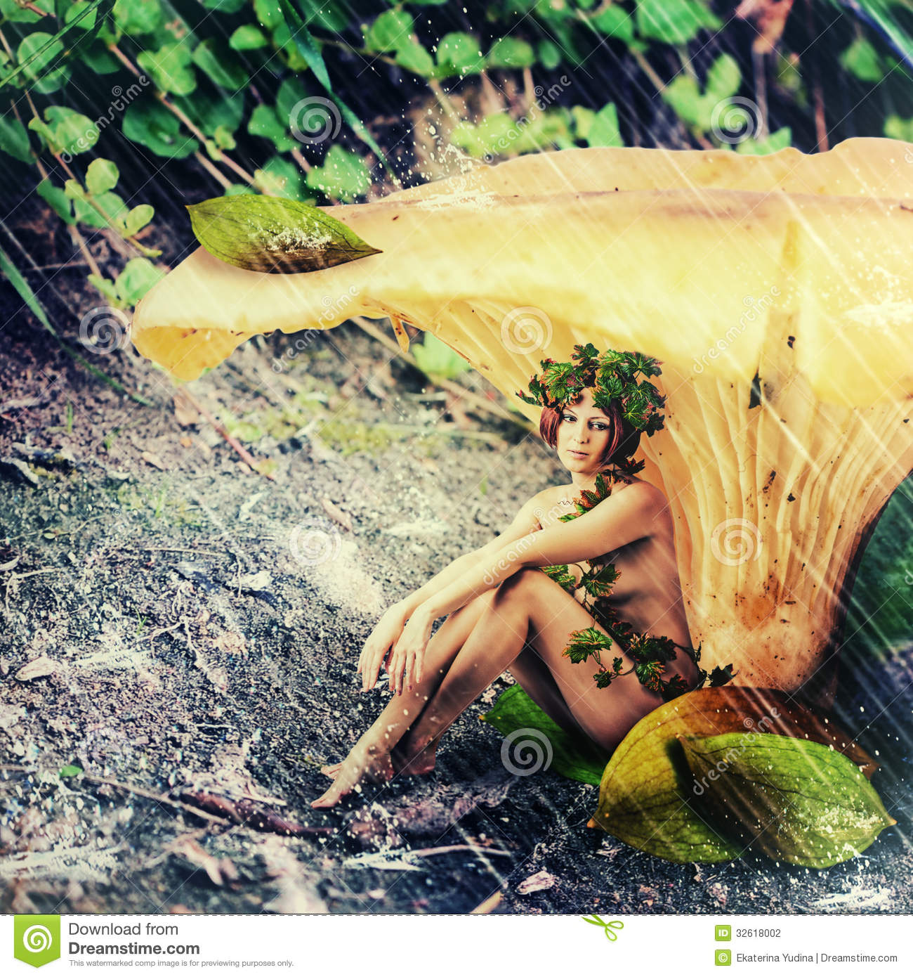 Rain In Fantasy Land Woman Forest Nymph Stock Photo Watermelon Wallpaper Rainbow Find Free HD for Desktop [freshlhys.tk]