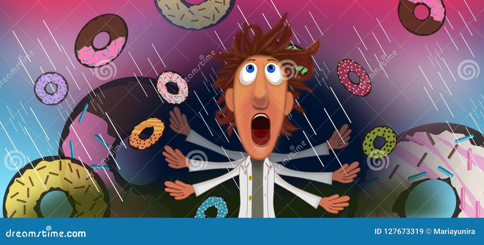 Rain of doughnuts