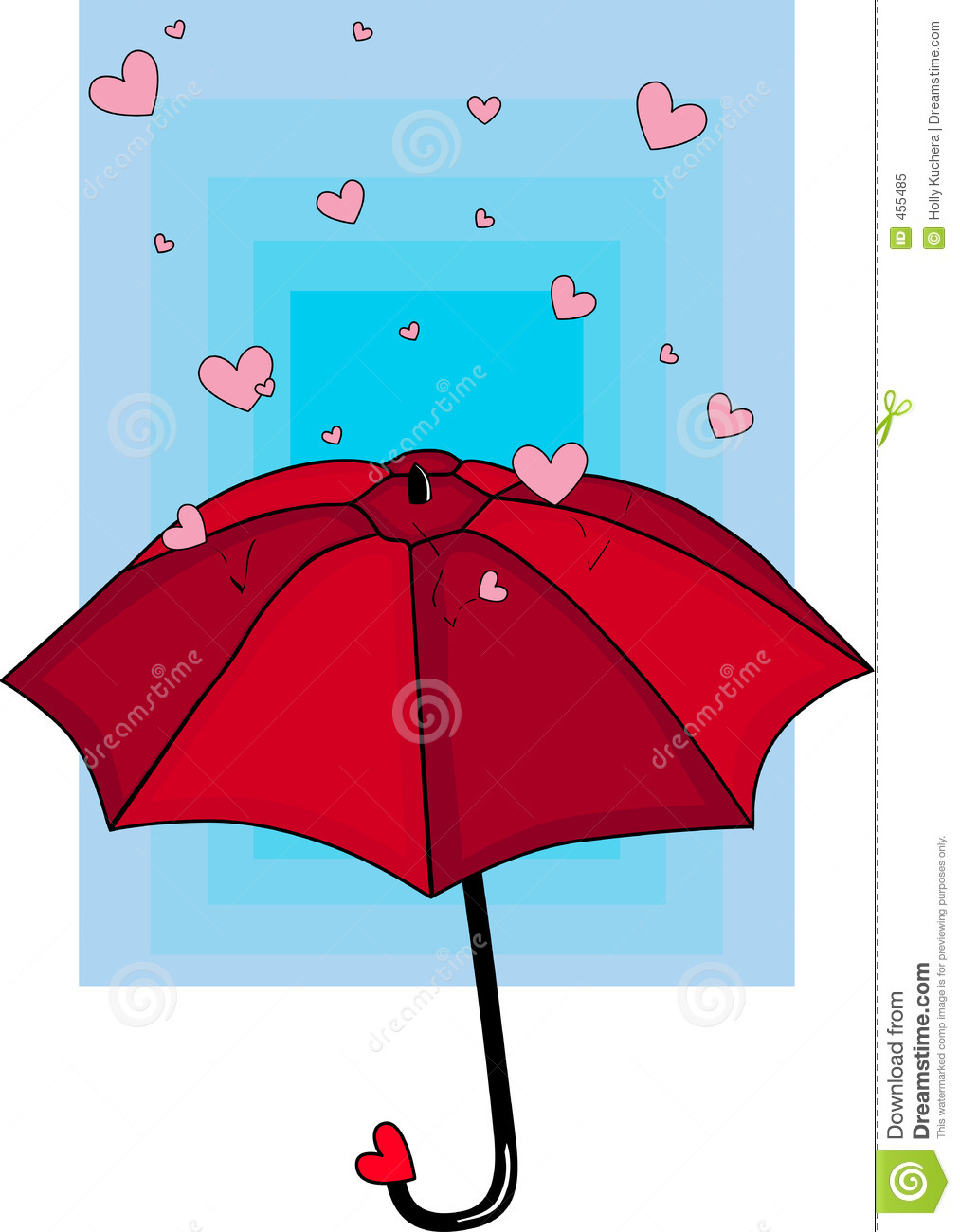 Download Rain of Hearts stock illustration. Illustration of bounce - 455485