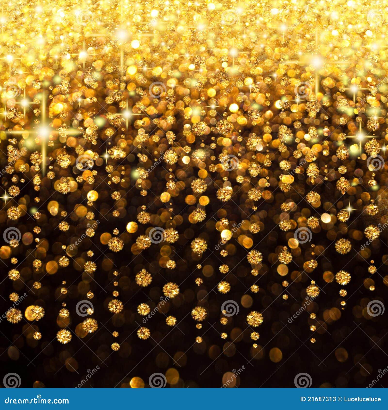 gold lights for christmas tree