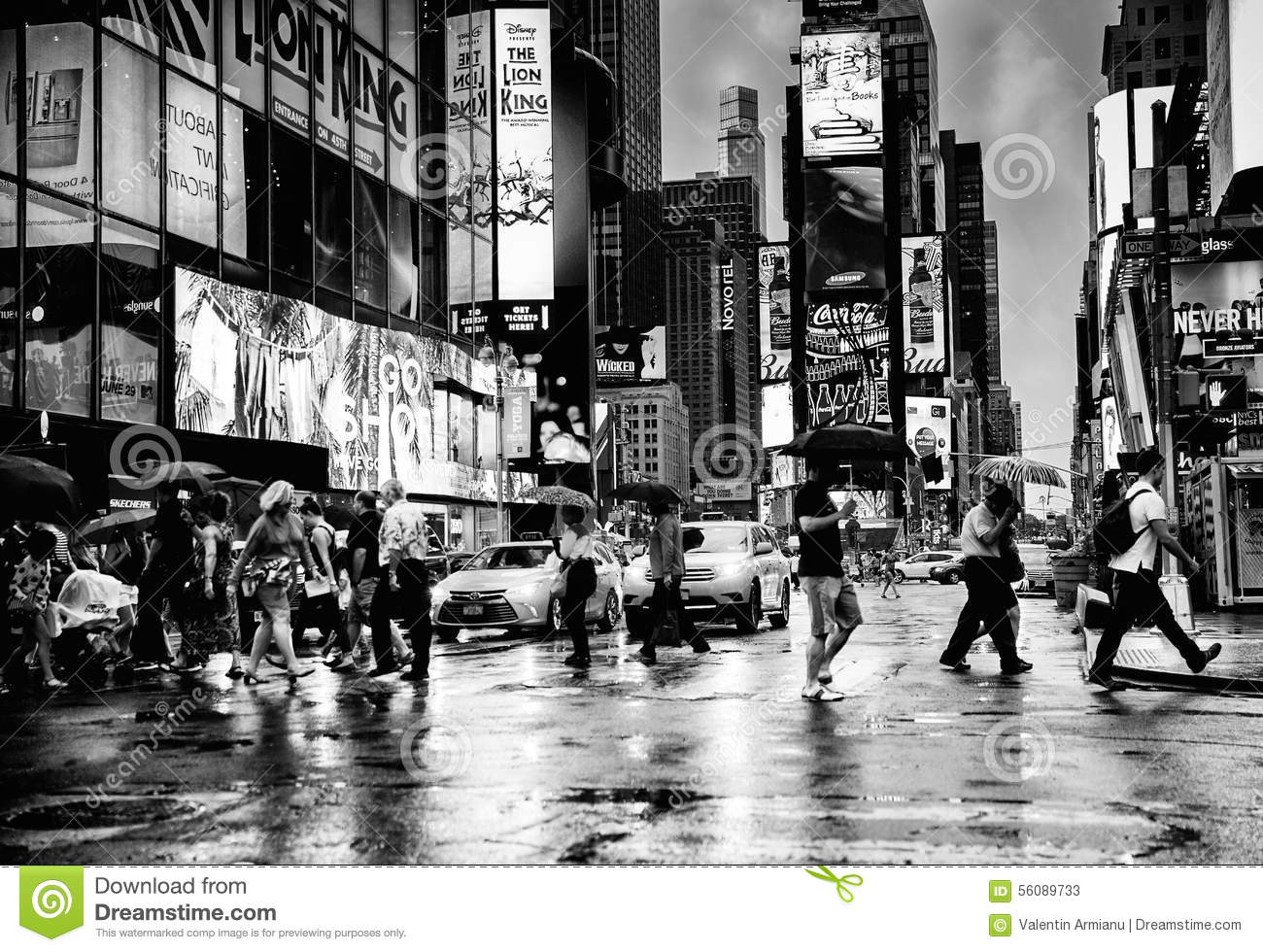 People in intersection of Times Square, New York City