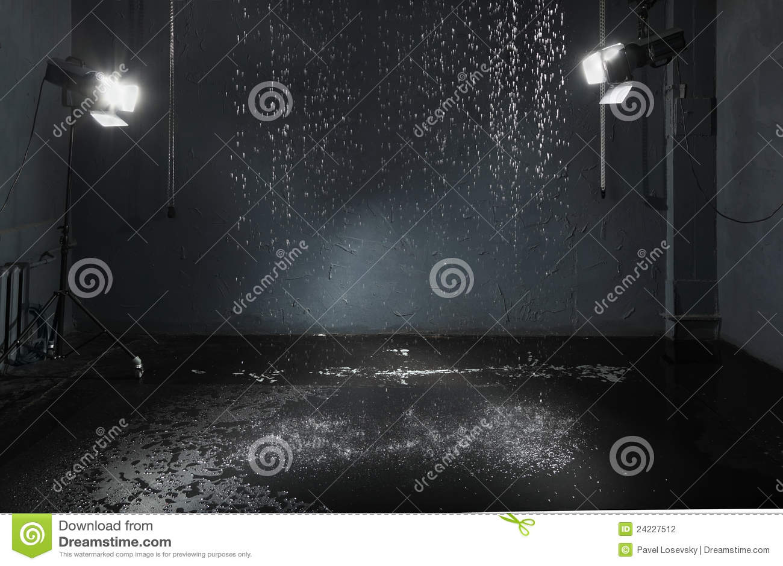 Rain In Studio Lighting System Stock Photography Image