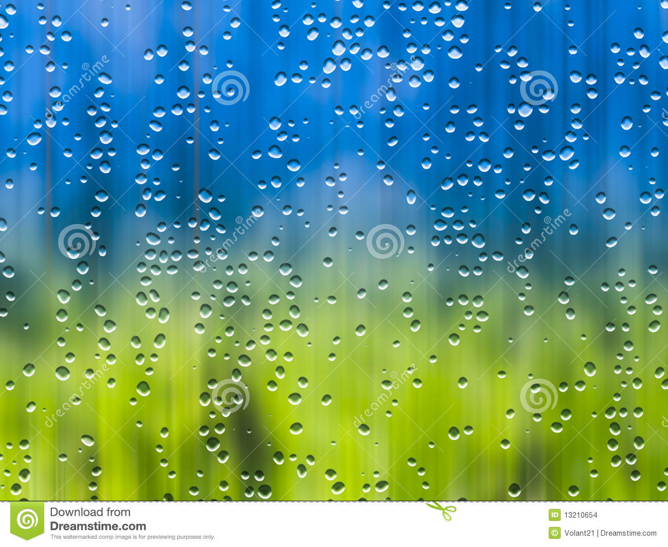 Rain During Sunshine Stock Images Image 13210654