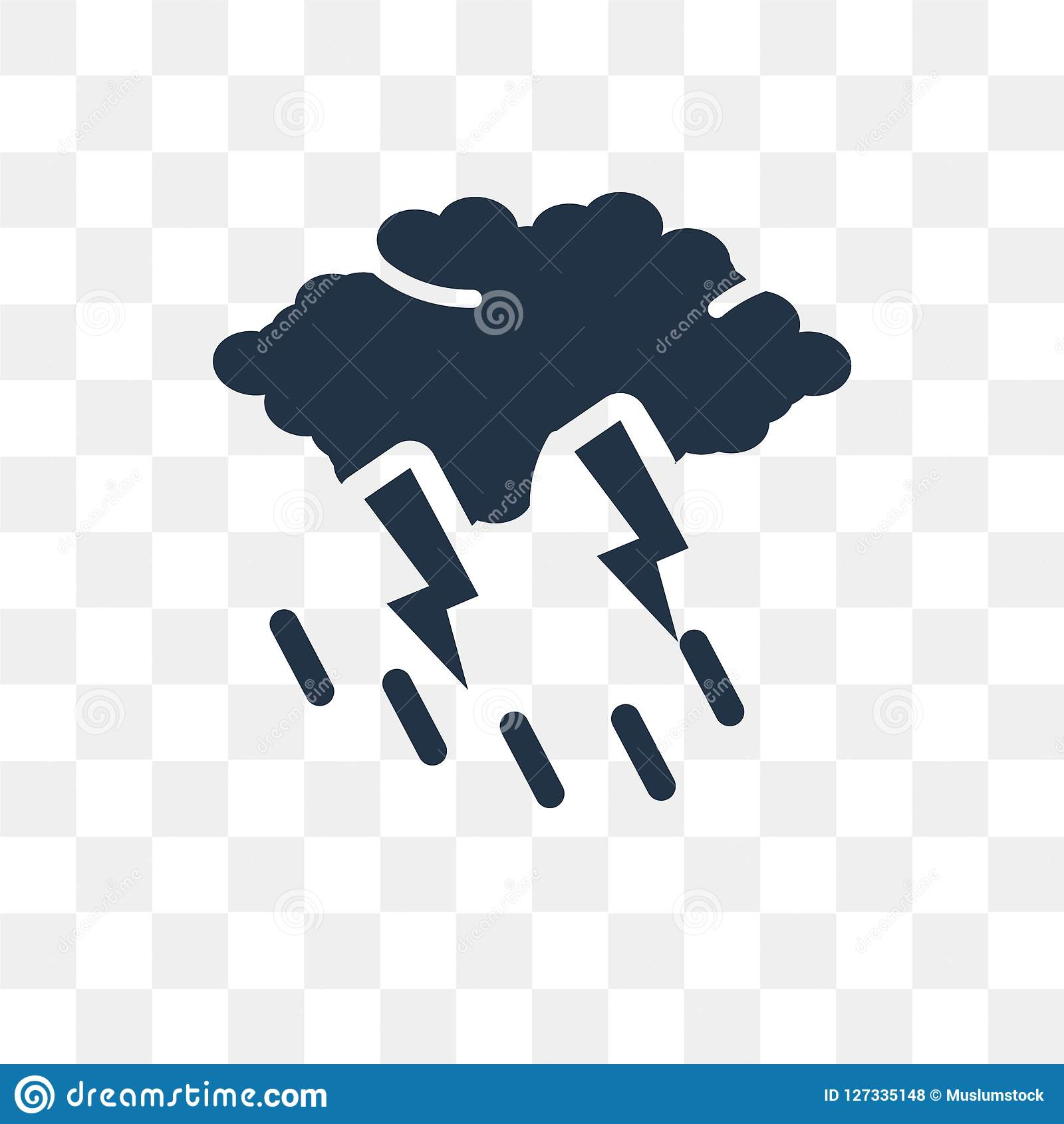 rain and thunder vector icon isolated on transparent background rain and thunder transparency concept can be used web and mobile stock vector illustration of meteorology storm 127335148 dreamstime com