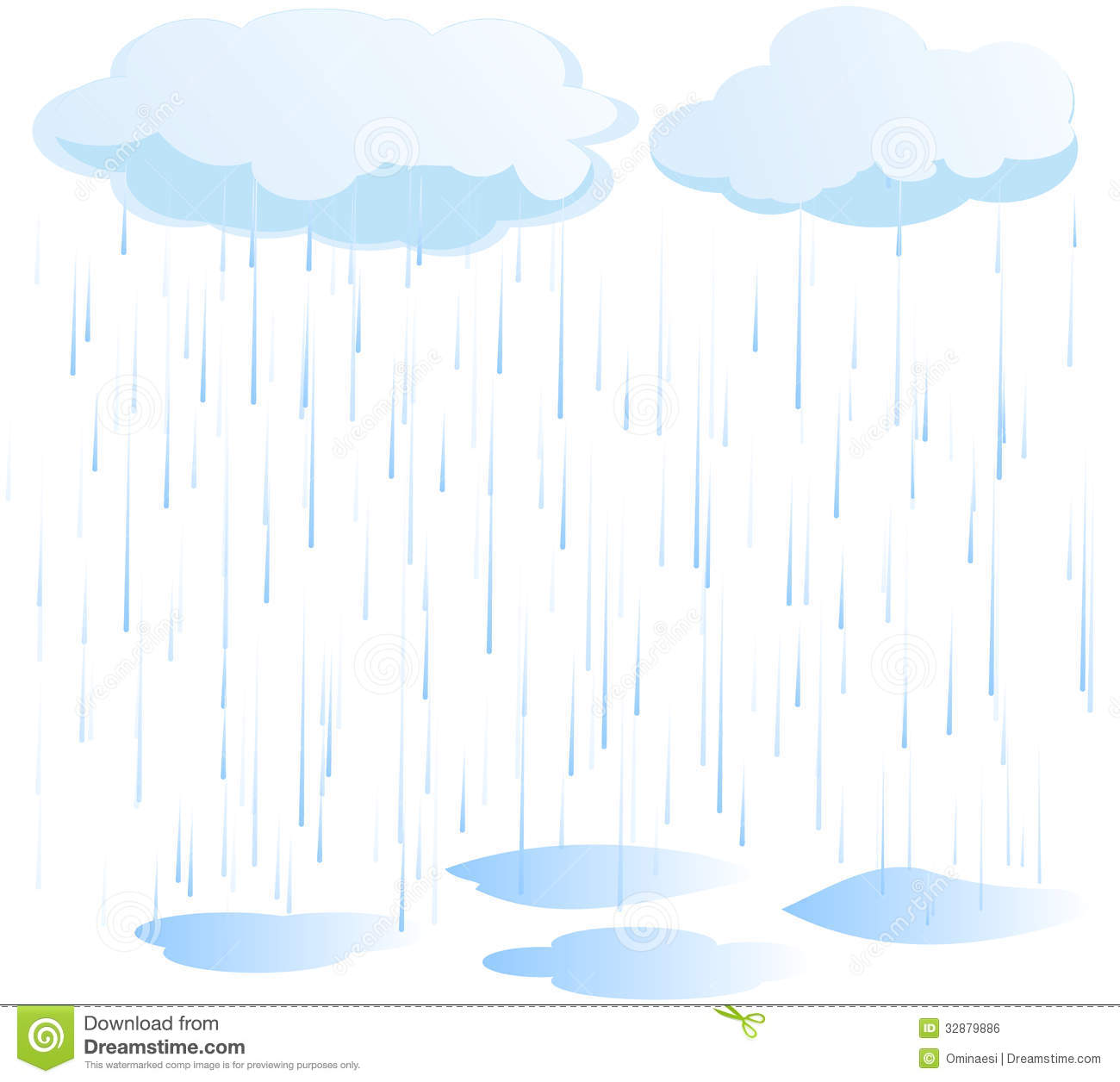 Rain Vector Royalty Free Stock Image - Image: 32879886