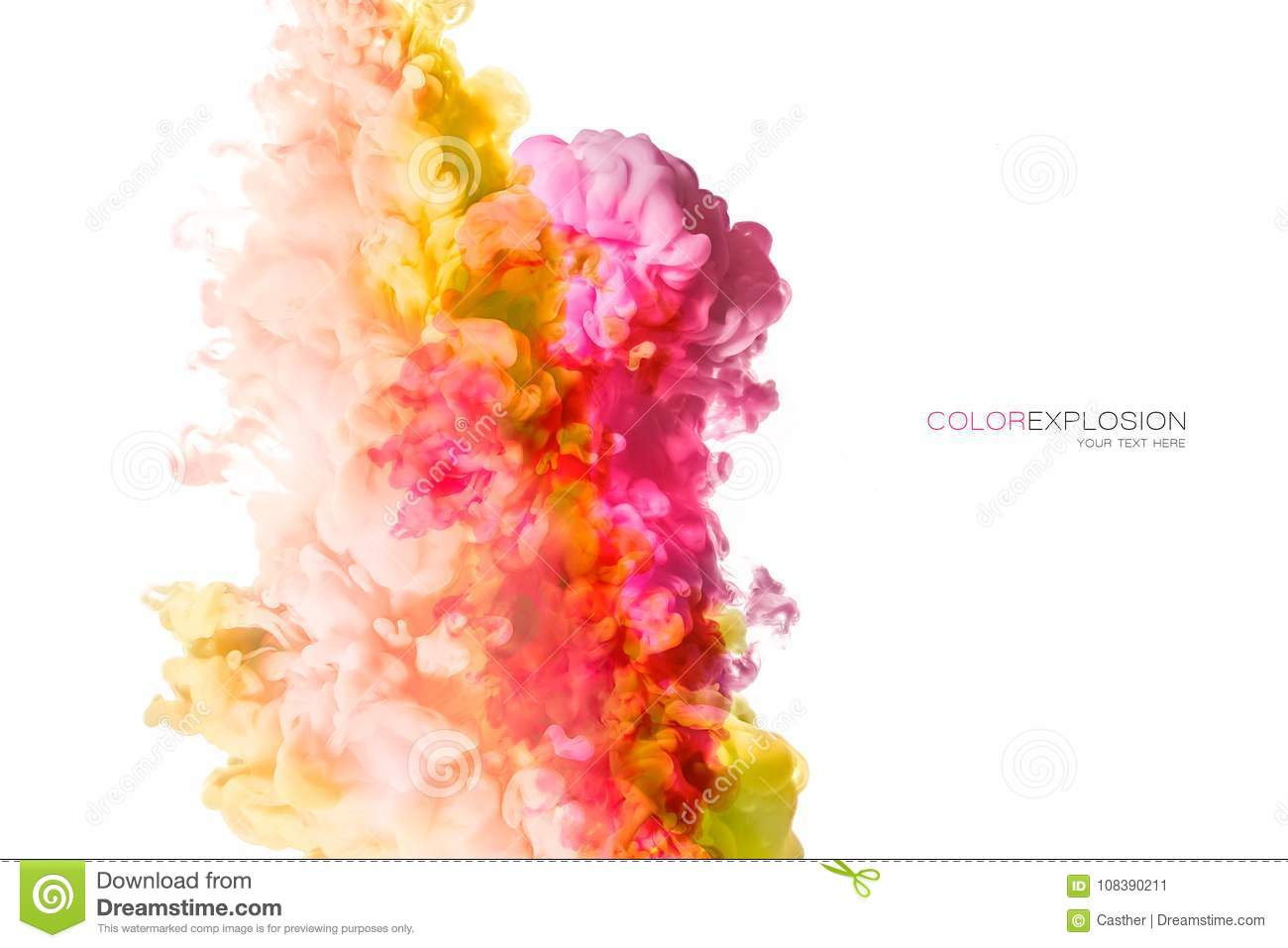 Rainbow Of Acrylic Ink In Water. Color Explosion Stock Image - Image ...