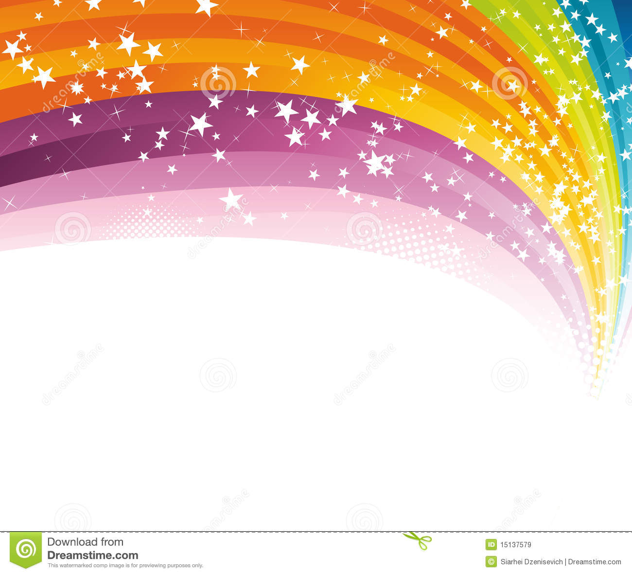 Rainbow Advertising Background Template Royalty Free Stock