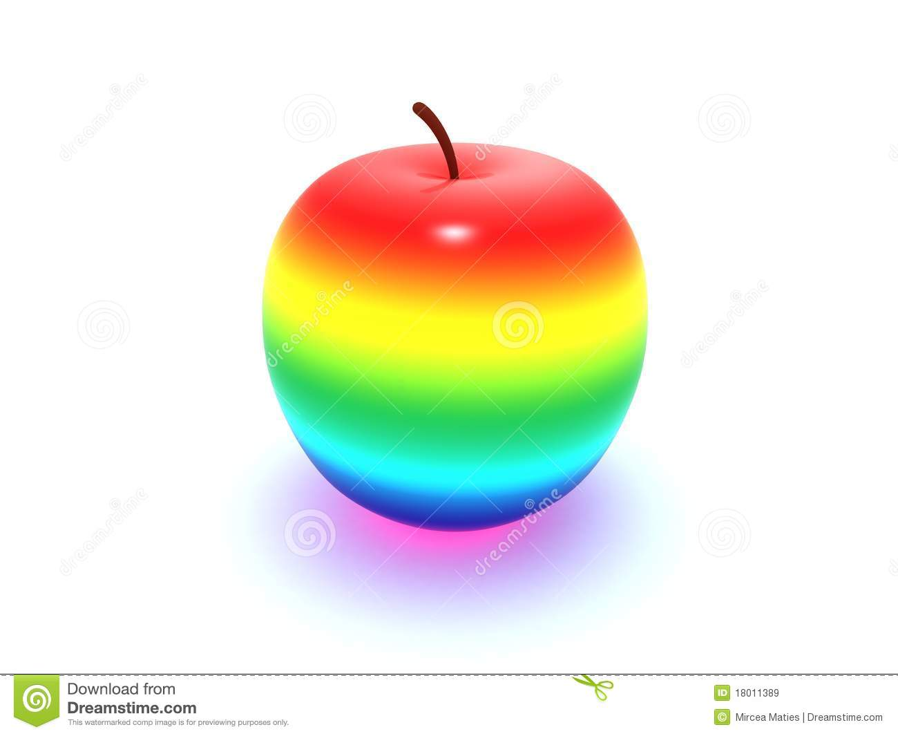 Rainbow Apple Royalty Free Stock Images - Image: 18011389