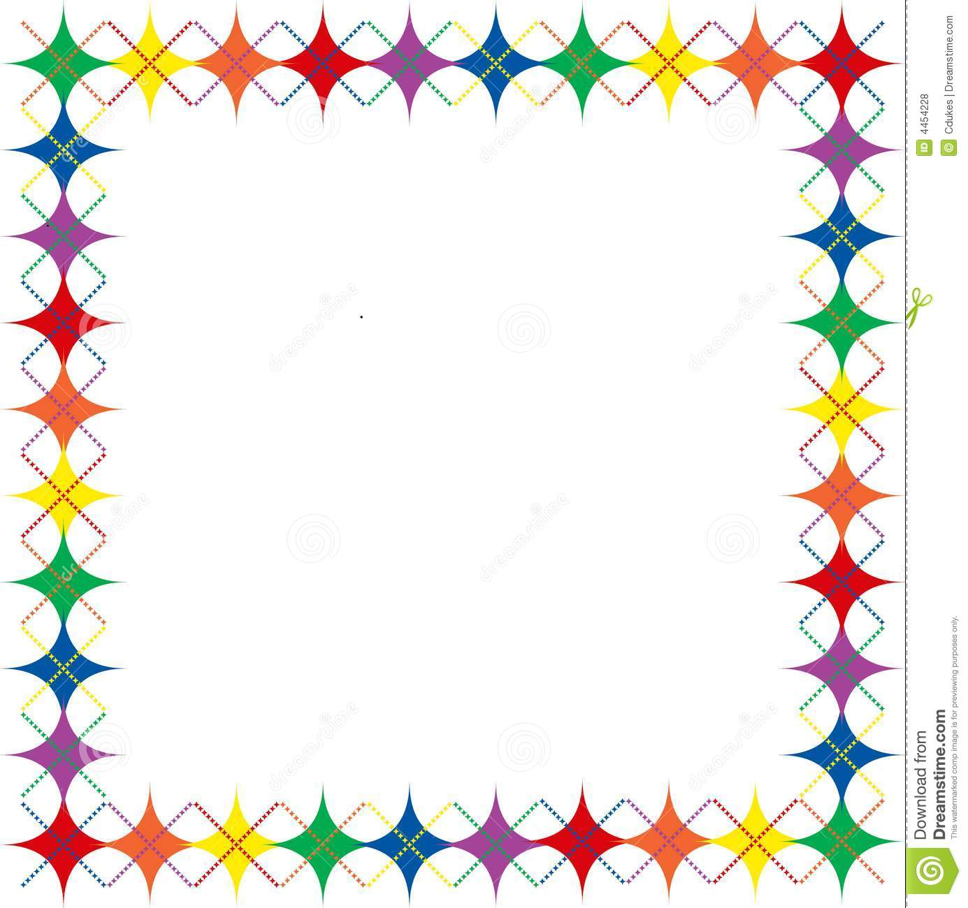 Royalty Free Stock Photos Rainbow Argyle Stars Border Image4454228 on Space Theme Printables