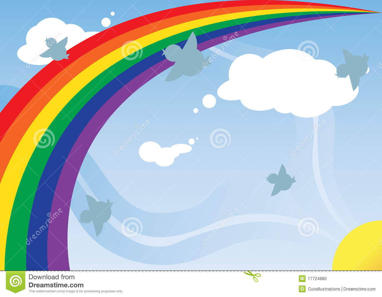 Rainbow Background Stock Photo - Image: 17724880