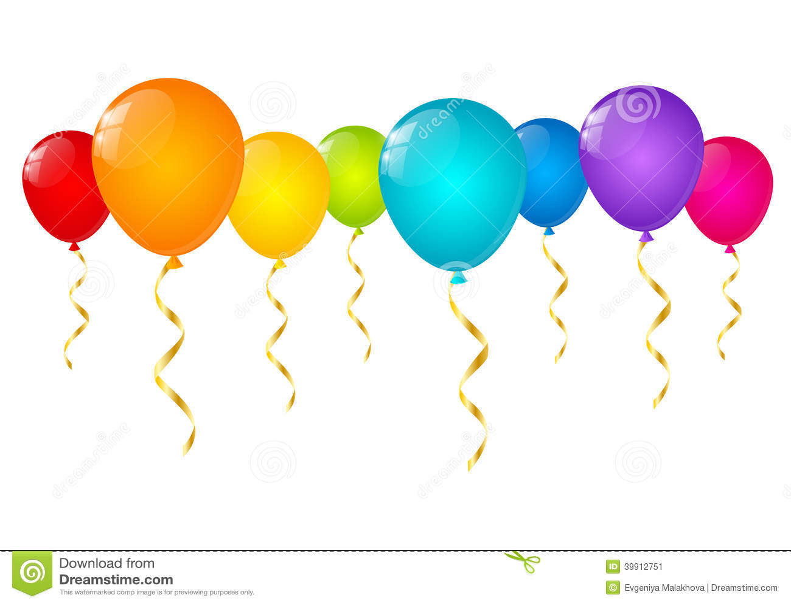 Rainbow Balloons Isolated Stock Vector - Image: 39912751