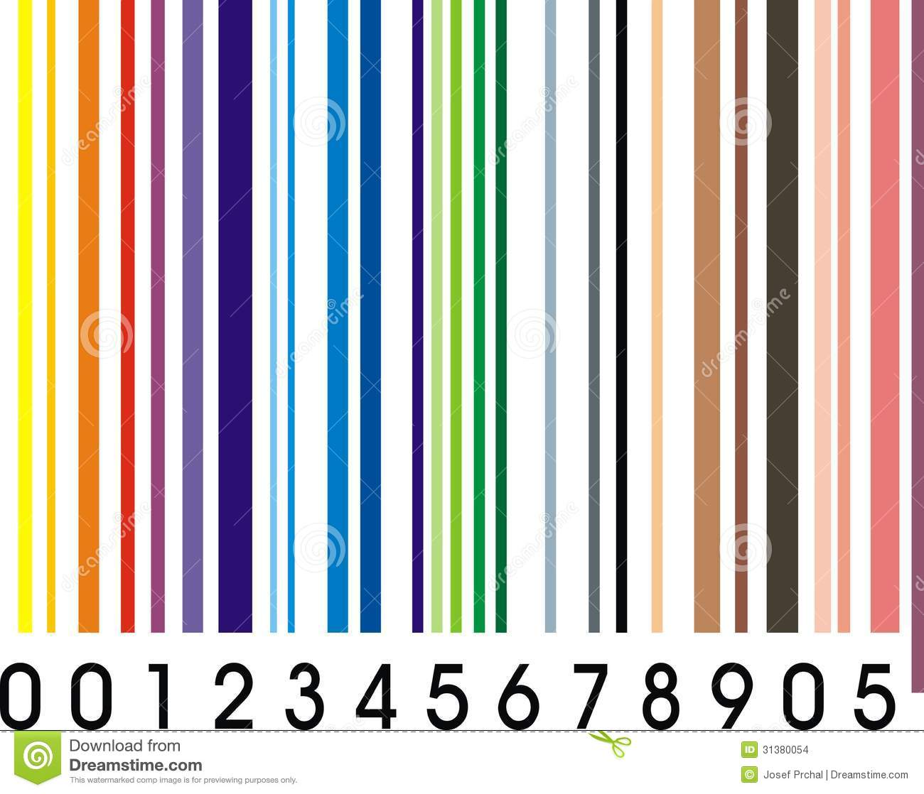 Rainbow Barcode Stock Images Image 31380054