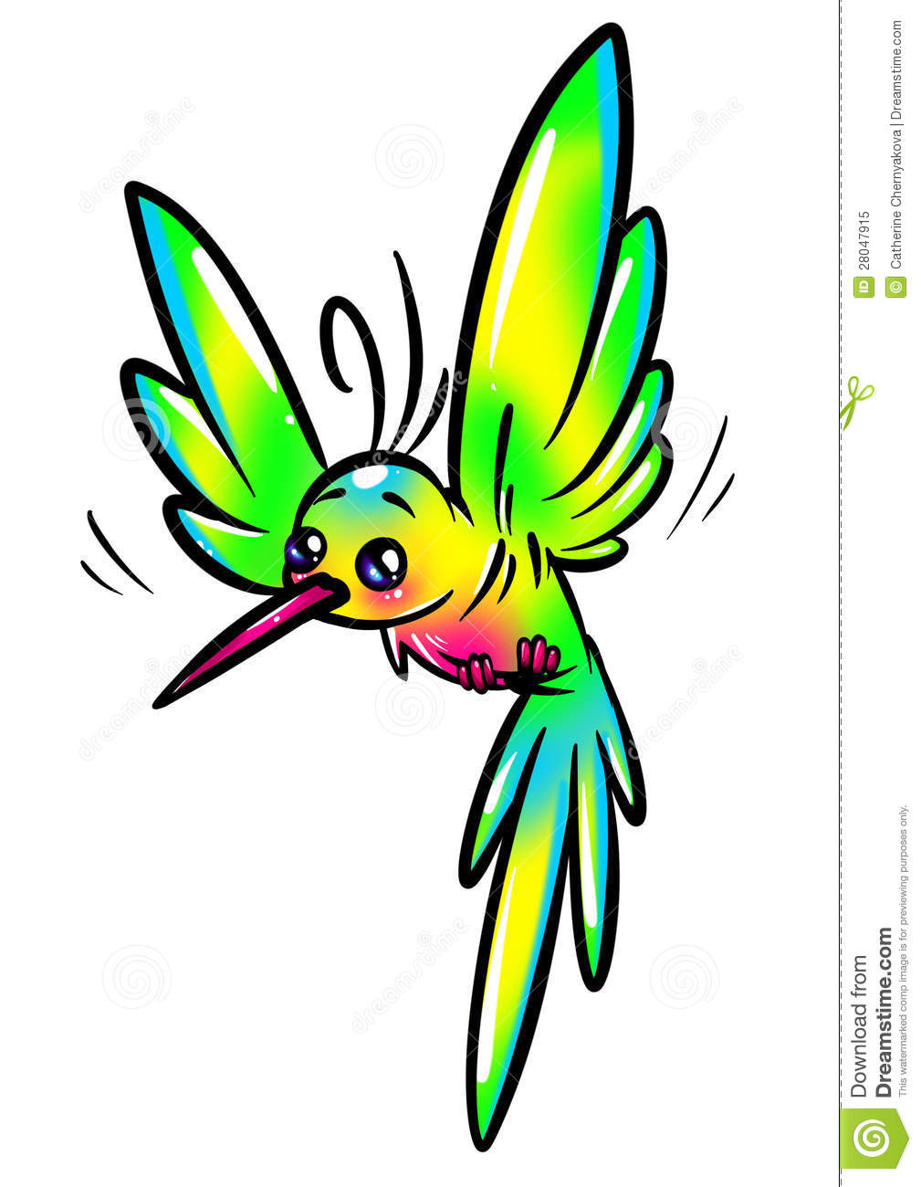 Rainbow Bird Hummingbird Royalty Free Stock Photo Image