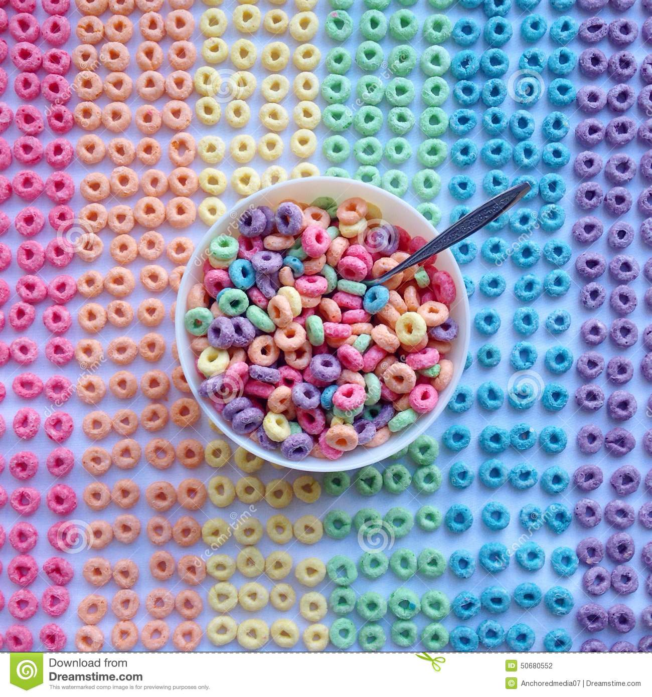 Rainbow Breakfast Stock Photo Image Of Lighting Bowl