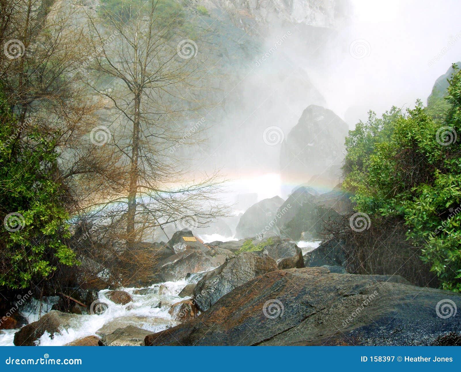 Rainbow at Bridalveil Falls