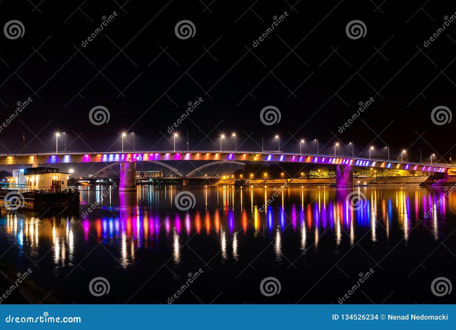 Rainbow bridge, Novi Sad, Serbia