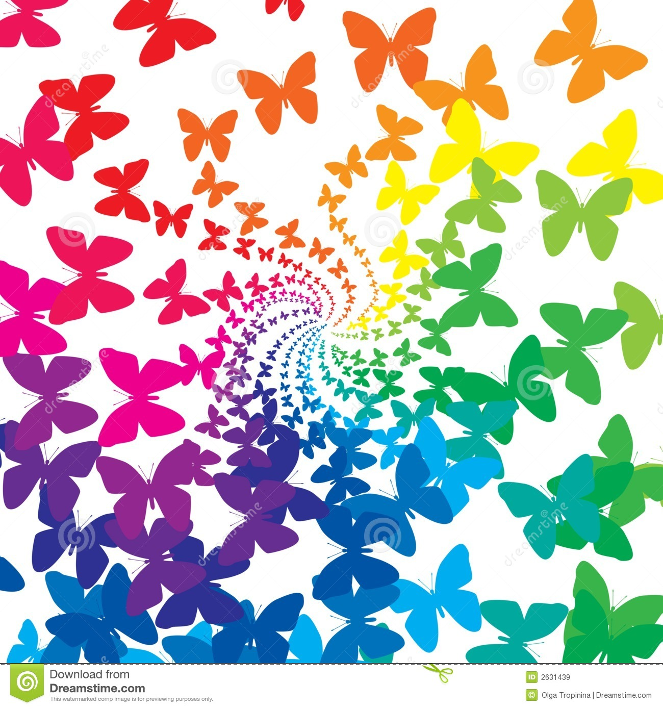 Rainbow Butterflies Royalty Free Stock Images - Image: 2631439