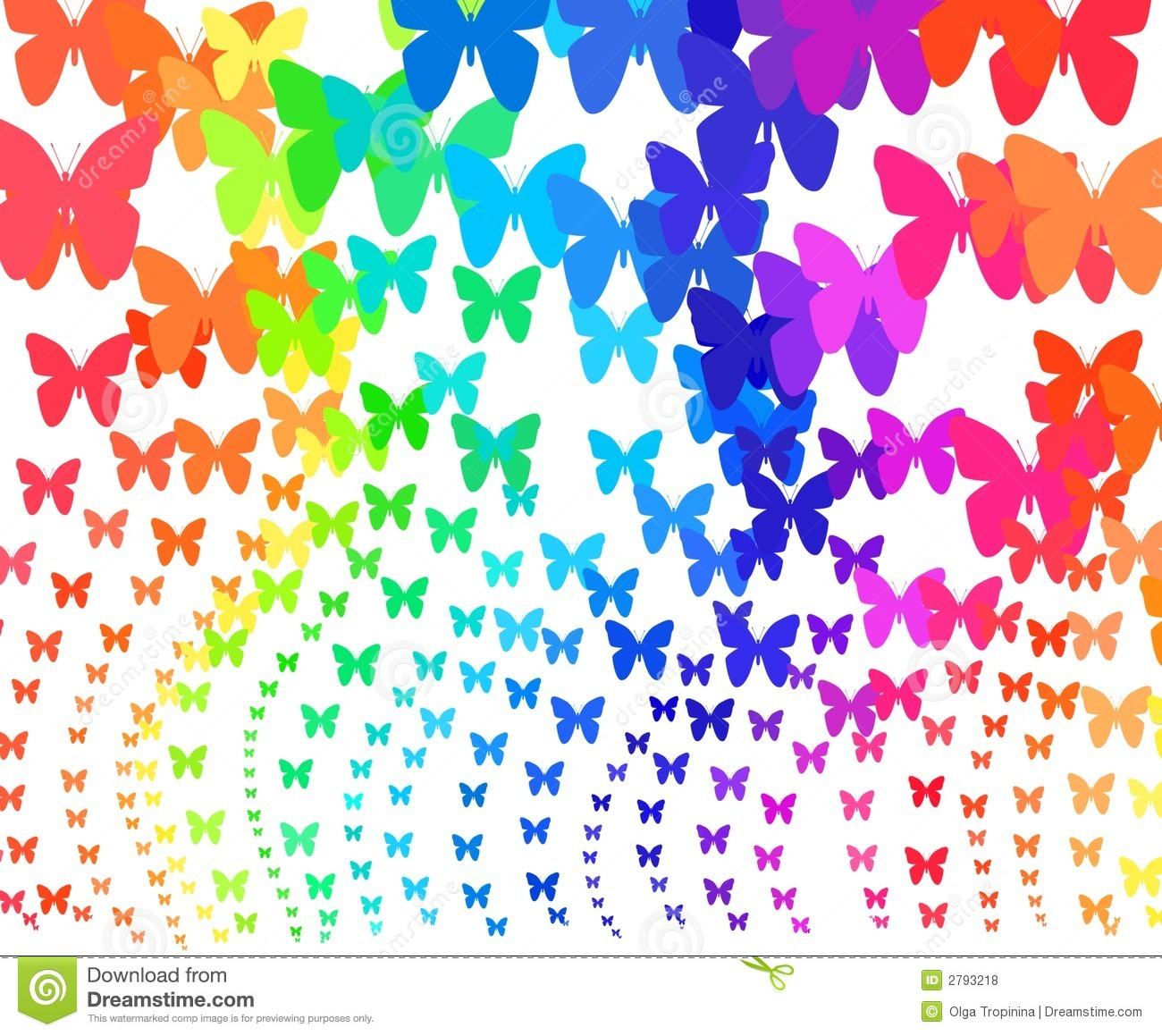 Rainbow Butterflies Royalty Free Stock Photos - Image: 2793218
