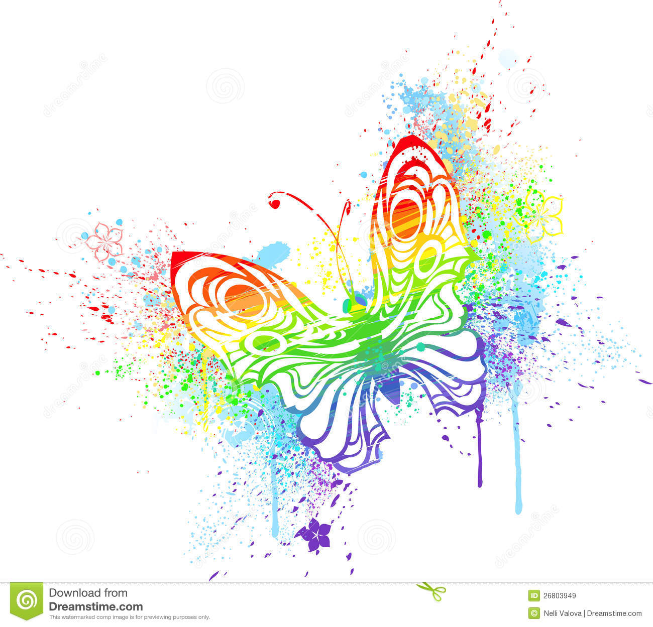 rainbow butterfly royalty free stock images image 26803949