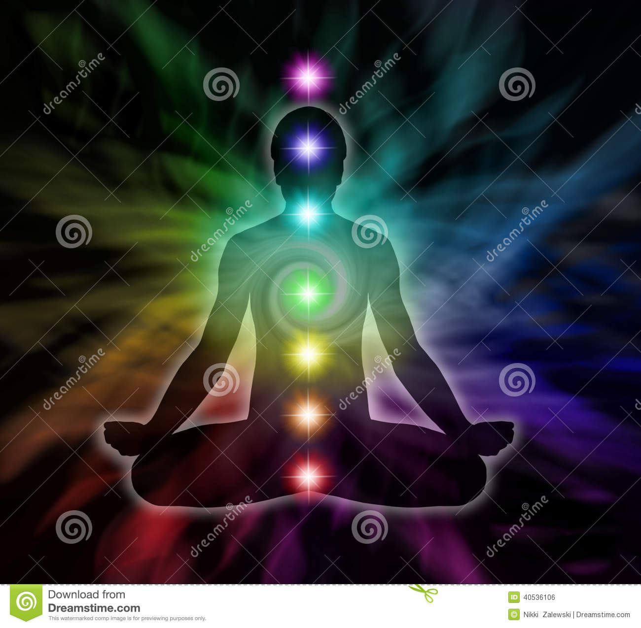 rainbow chakra meditation silhouette diagram man lotus position seven chakras flowing energy background 40536106 rainbow chakra meditation stock illustration illustration of healer