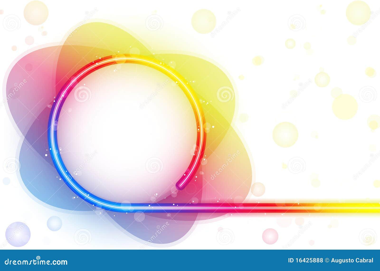Rainbow Circle Border With Sparkles Royalty Free Stock