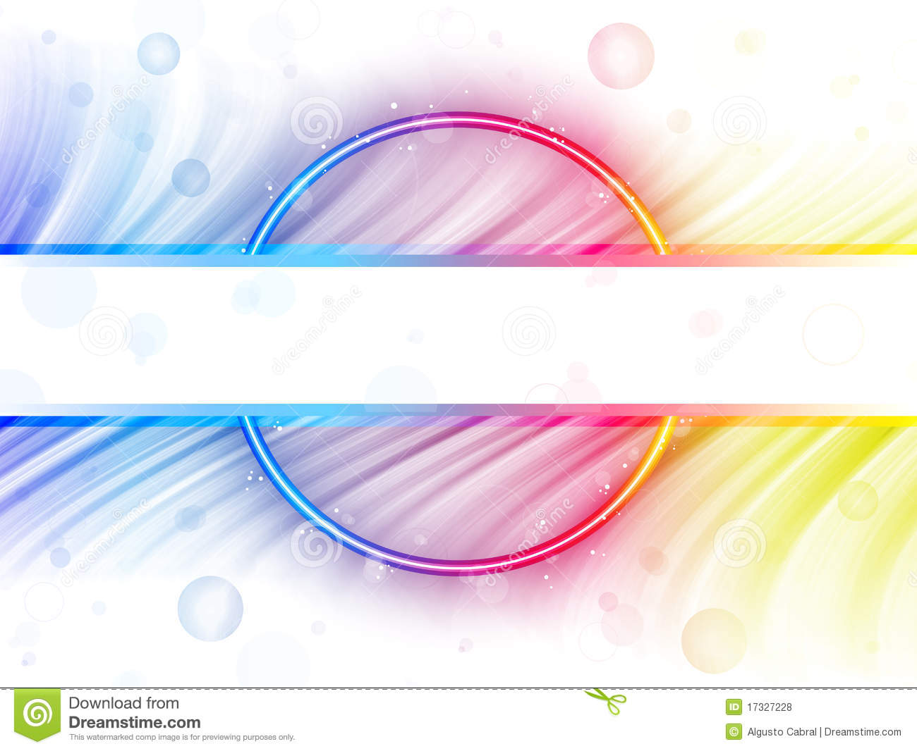 White Backgrounds With Colorful Borders Rainbow Circle Border White