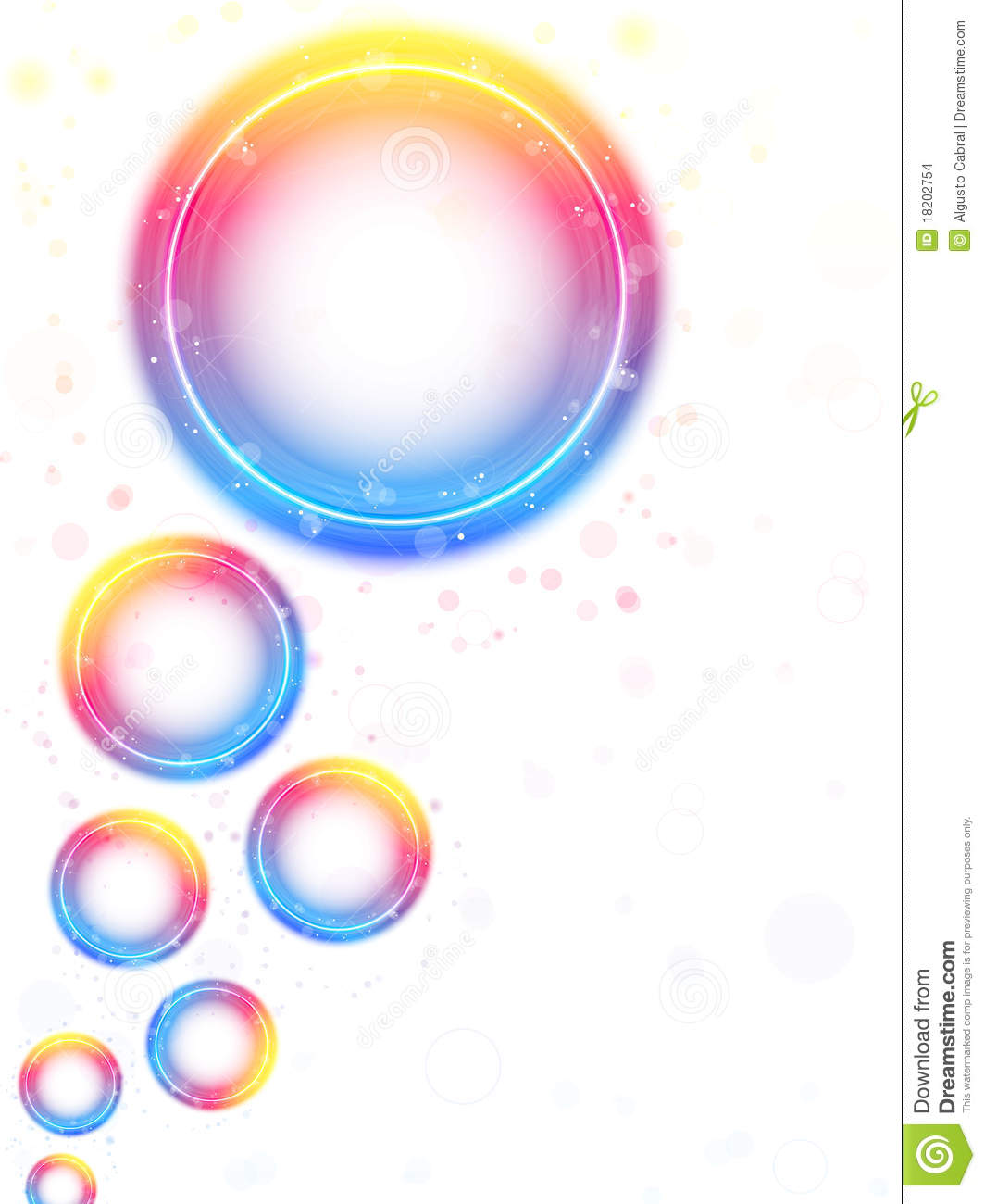 rainbow circle bubbles background stock images