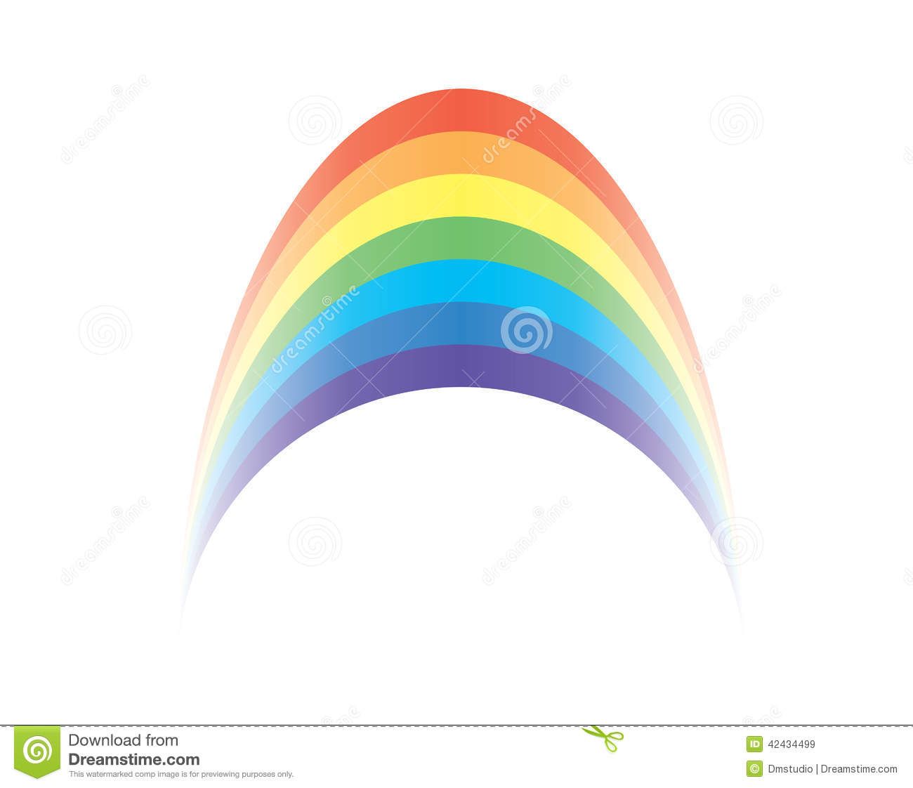 Vector Rainbow Clip Art Stock Vector - Image: 42434499