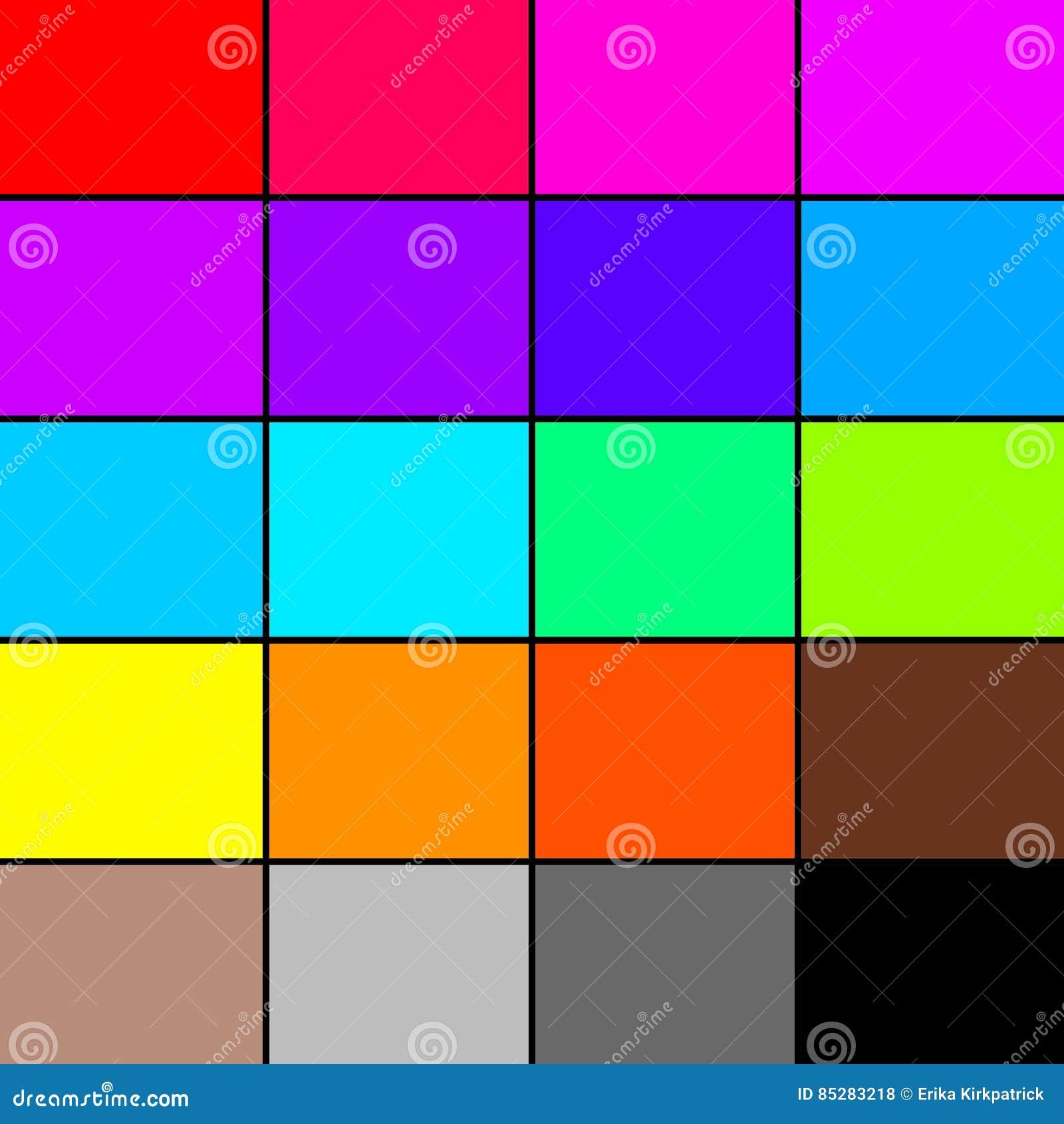 rainbow color palette stock illustration image 85283218