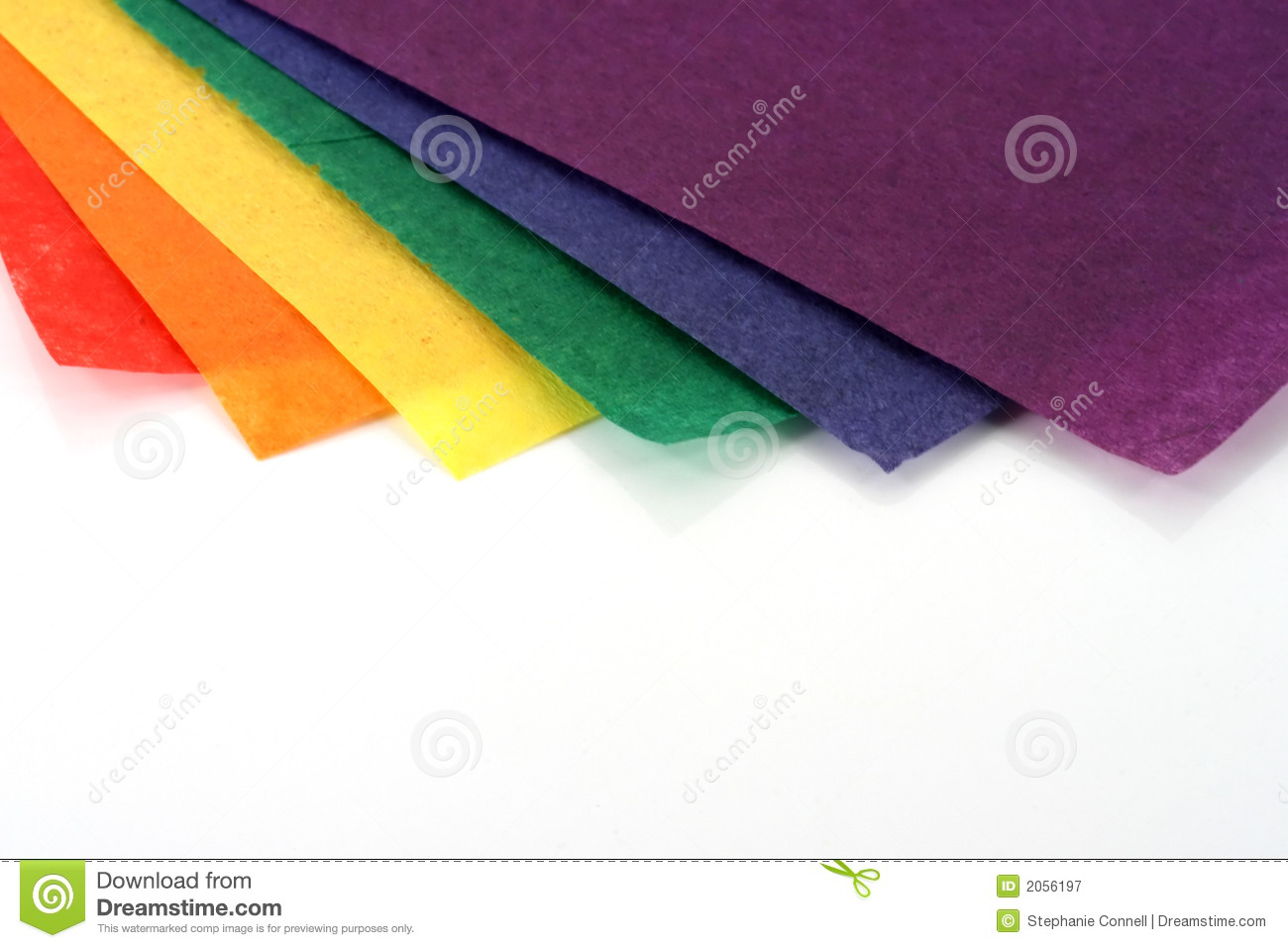 Rainbow Colored Craft Paper Stock Image Image Of Crafter Arts