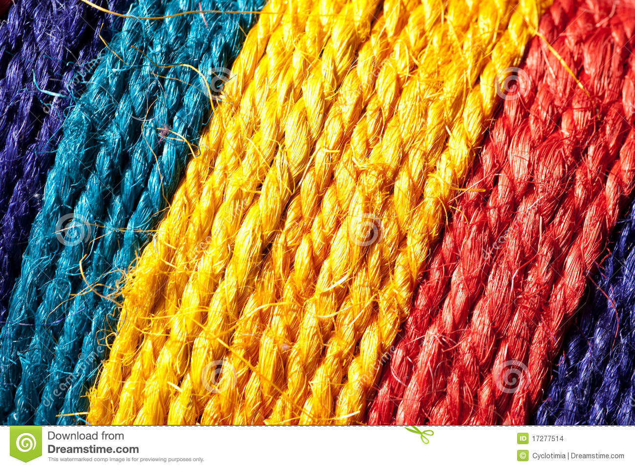 Rainbow colored Hemp Rope Stock Images Image 17277514