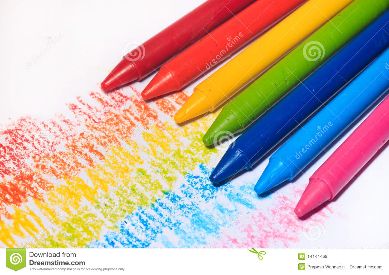 rainbow colorful crayon color for children royalty free stock images - Children Color