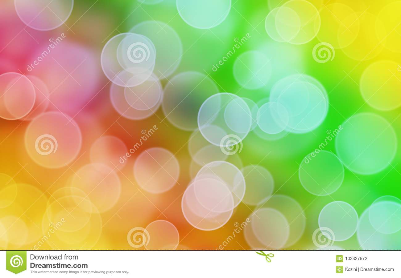 Rainbow colors background with bokeh