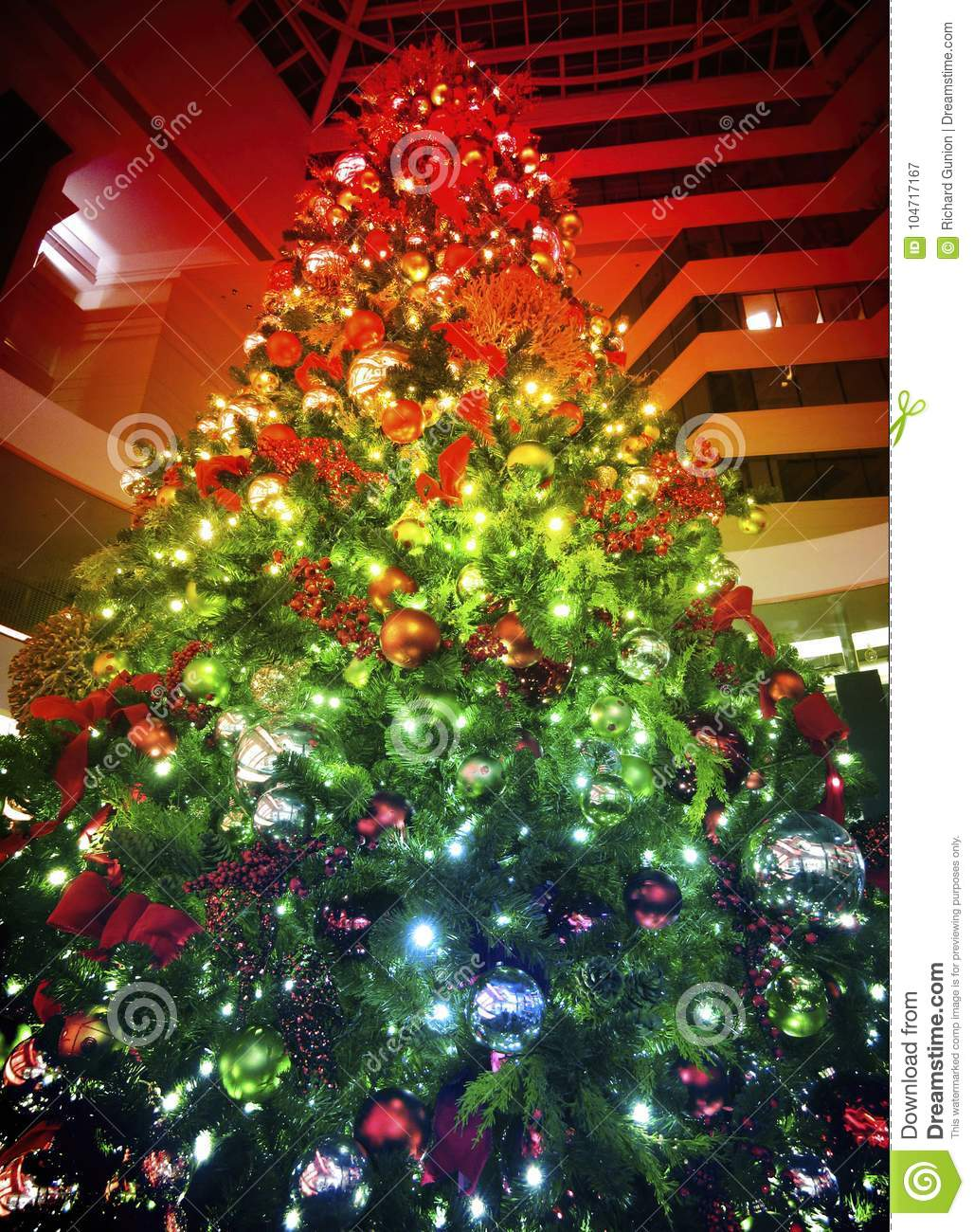 Rainbow Colors Of Christmas Stock Image Image Of Decorations