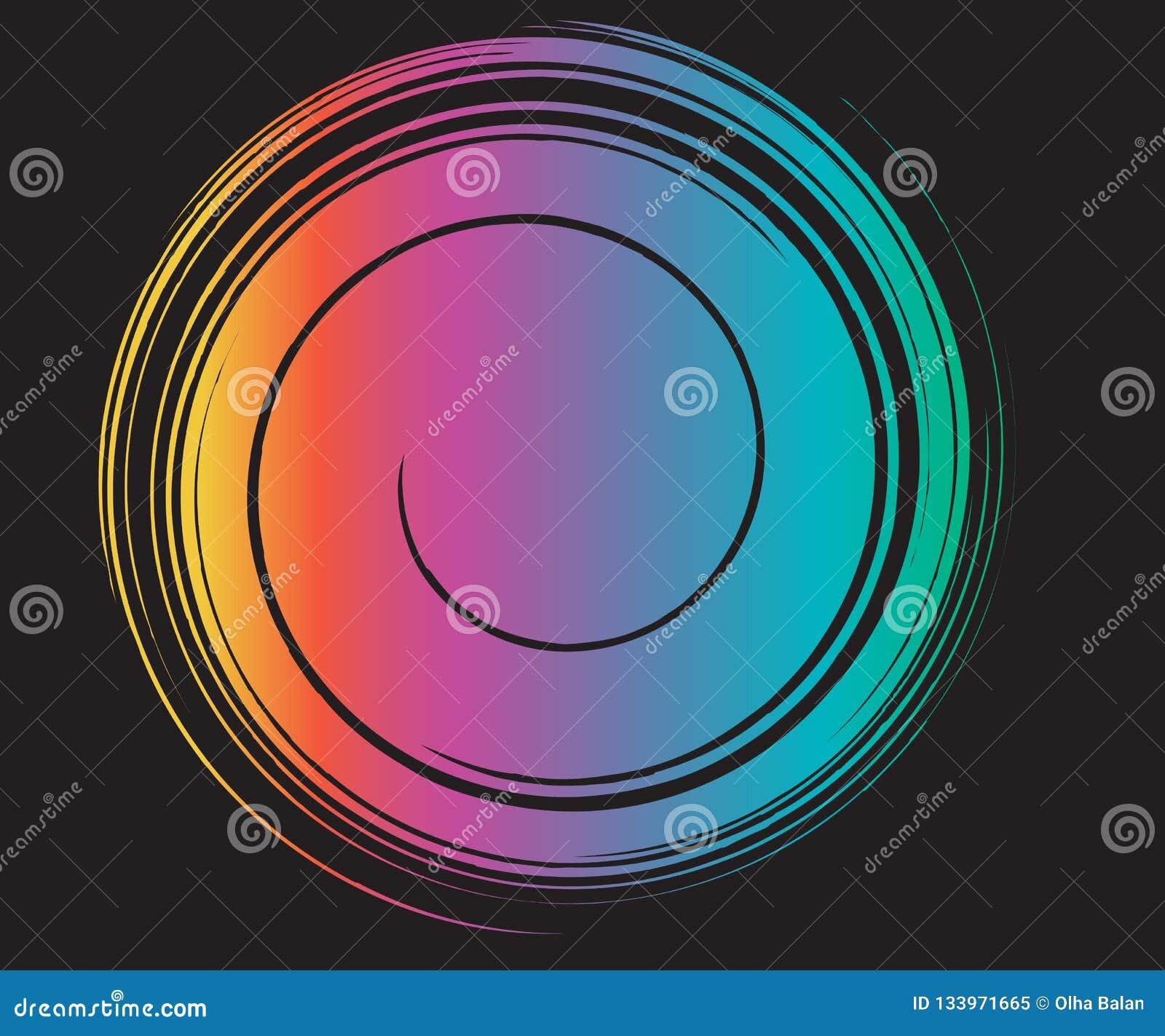 Fluid Rainbow Swirl Template