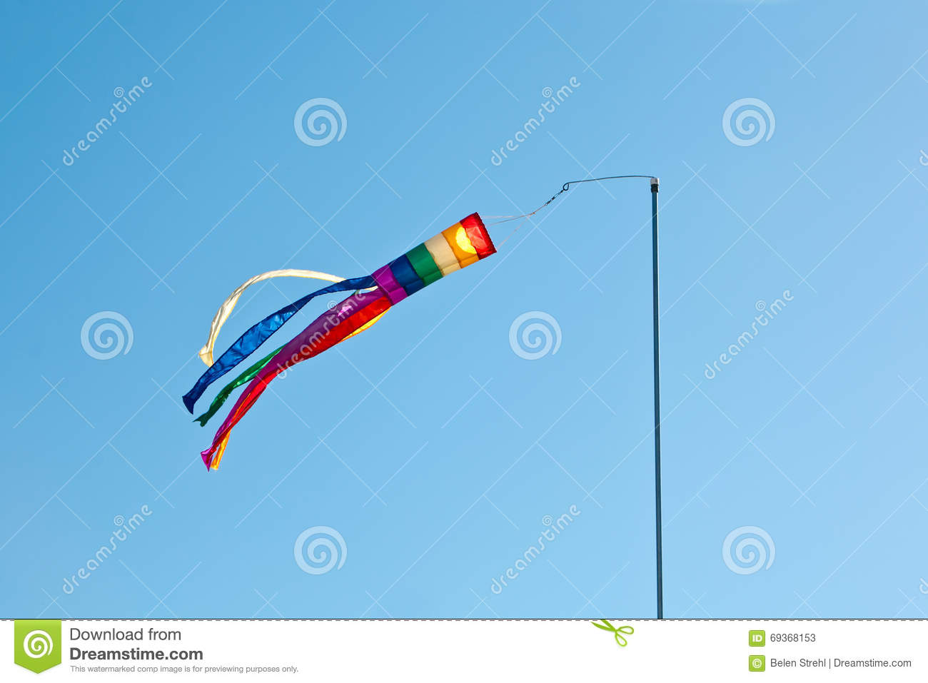 Download Rainbow Colors Wind Spinner Stock Image - Image of stripes, kite: 69368153