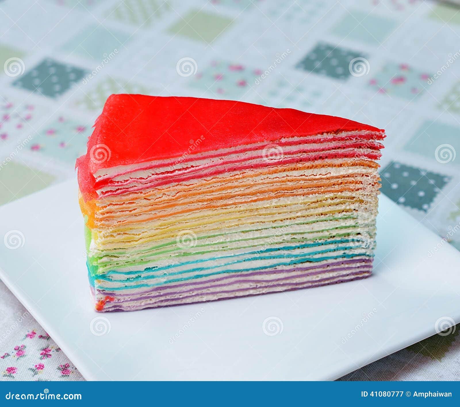 Rainbow Cake Calories