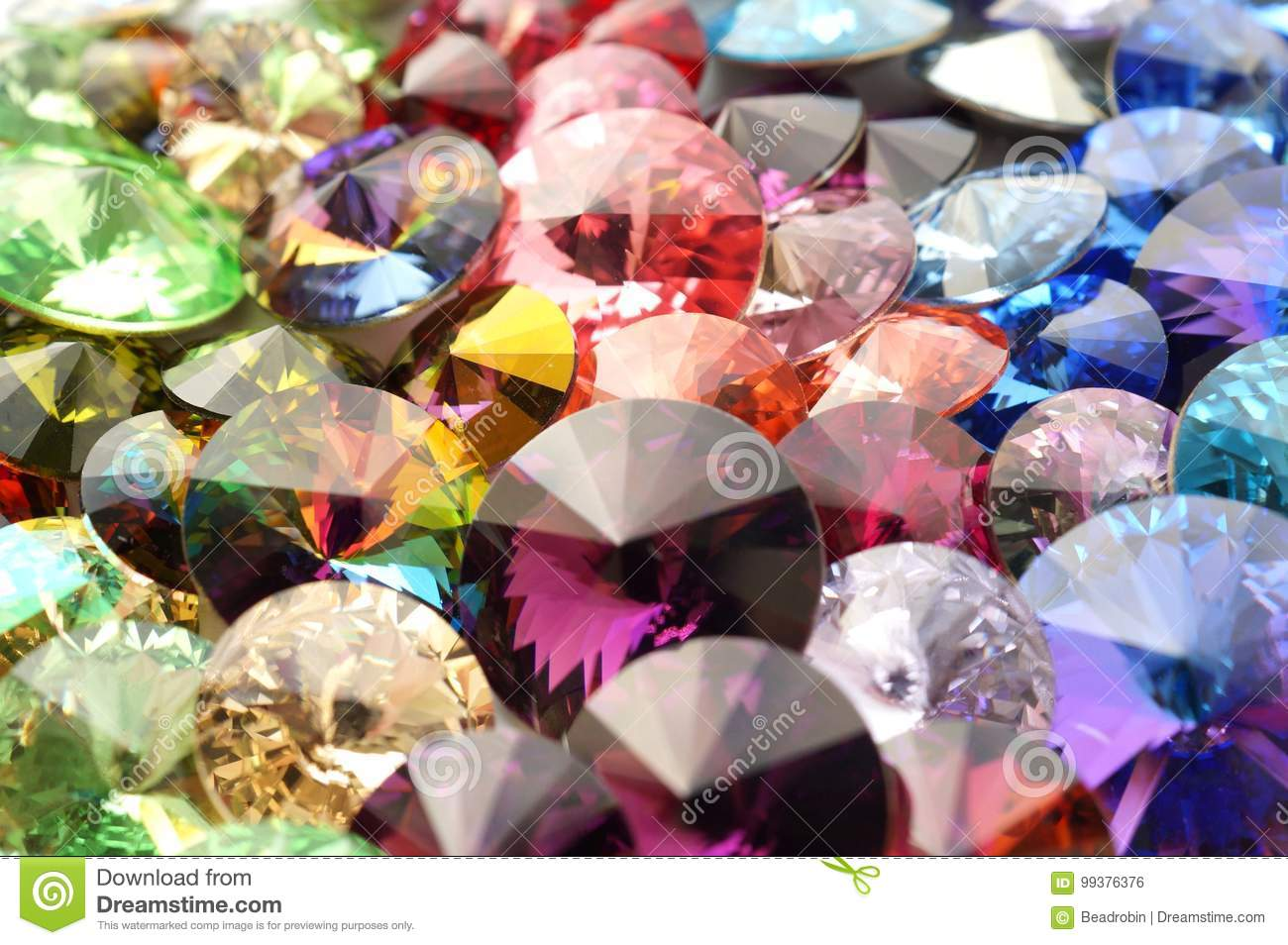 Rainbow Crystals Faceted Gemstones Stock Photo - Image of