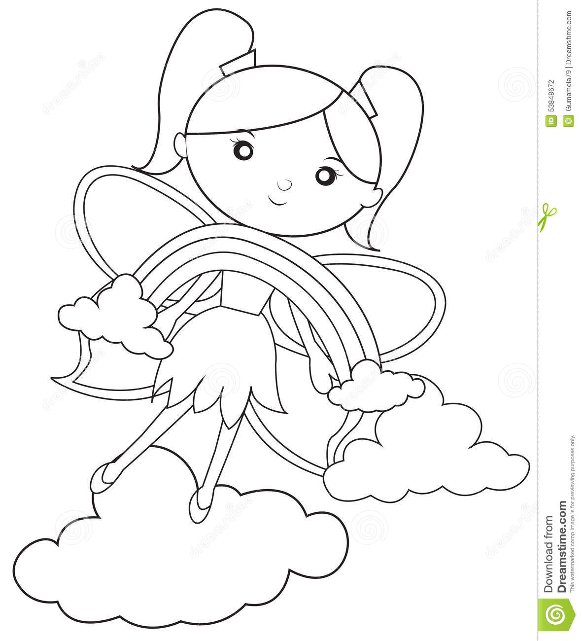 Rainbow fairies coloring pages images for Rainbow magic fairy coloring pages