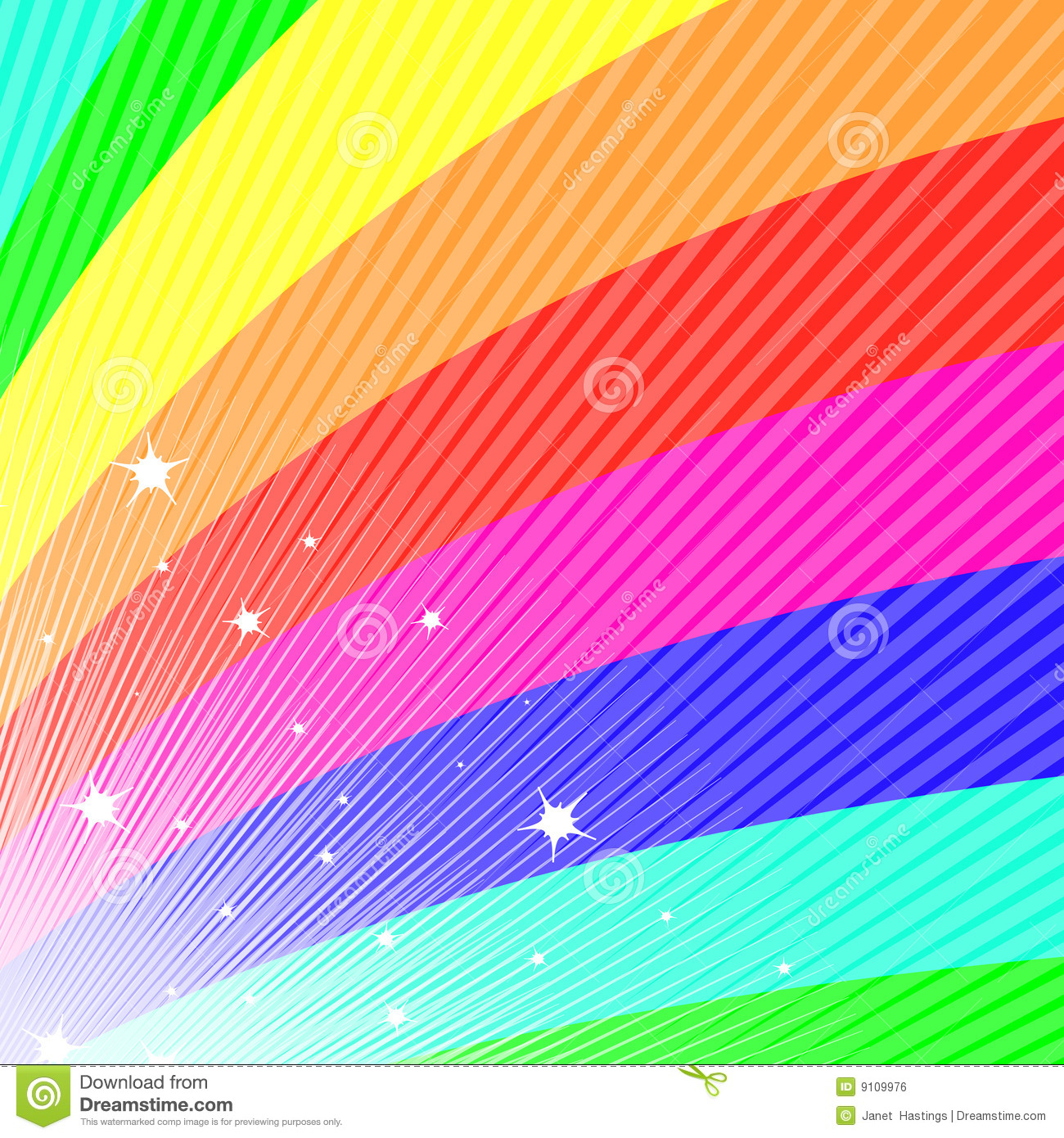 Rainbow fan royalty free stock image image 9109976 for Bright vibrant colors