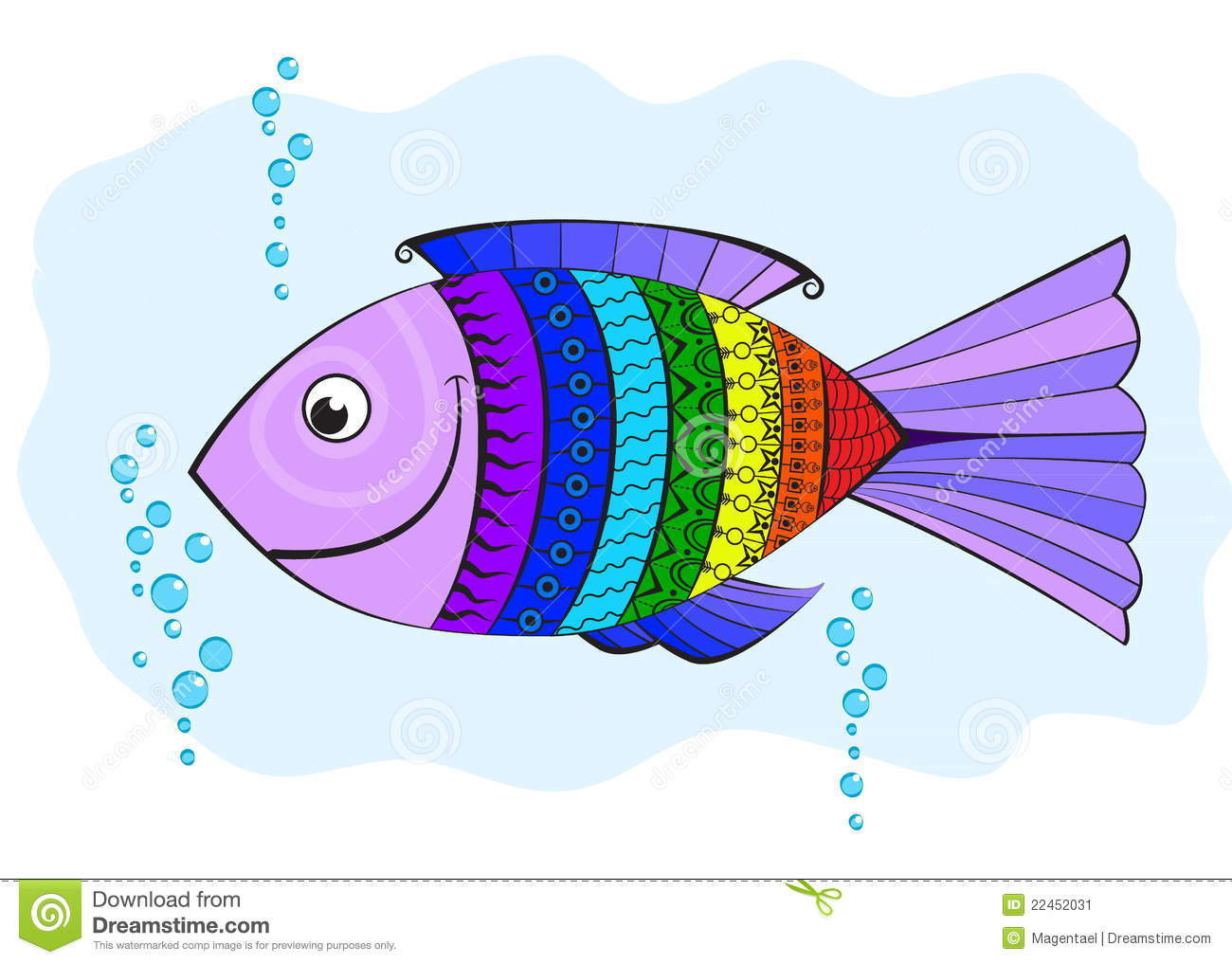 rainbow fish  covered with symbols stock vector rainbow fish clipart black and white rainbow fish clip art characters