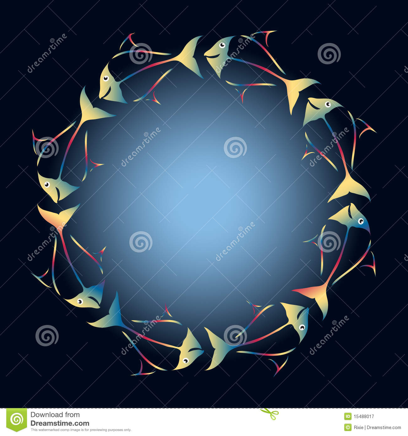 Rainbow fish frame royalty free stock photography image for Fish photo frame