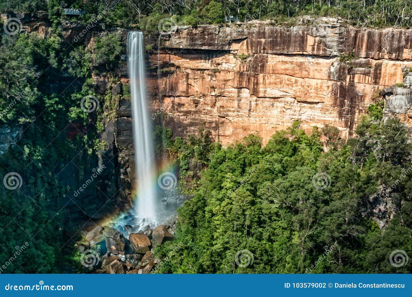 Rainbow at Fitzroy Falls