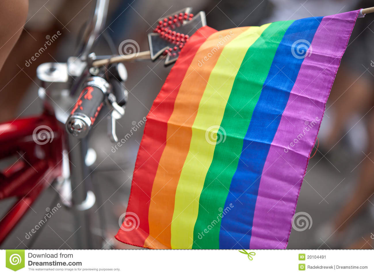 Rainbow Flag stock image  Image of crowded, homosextual