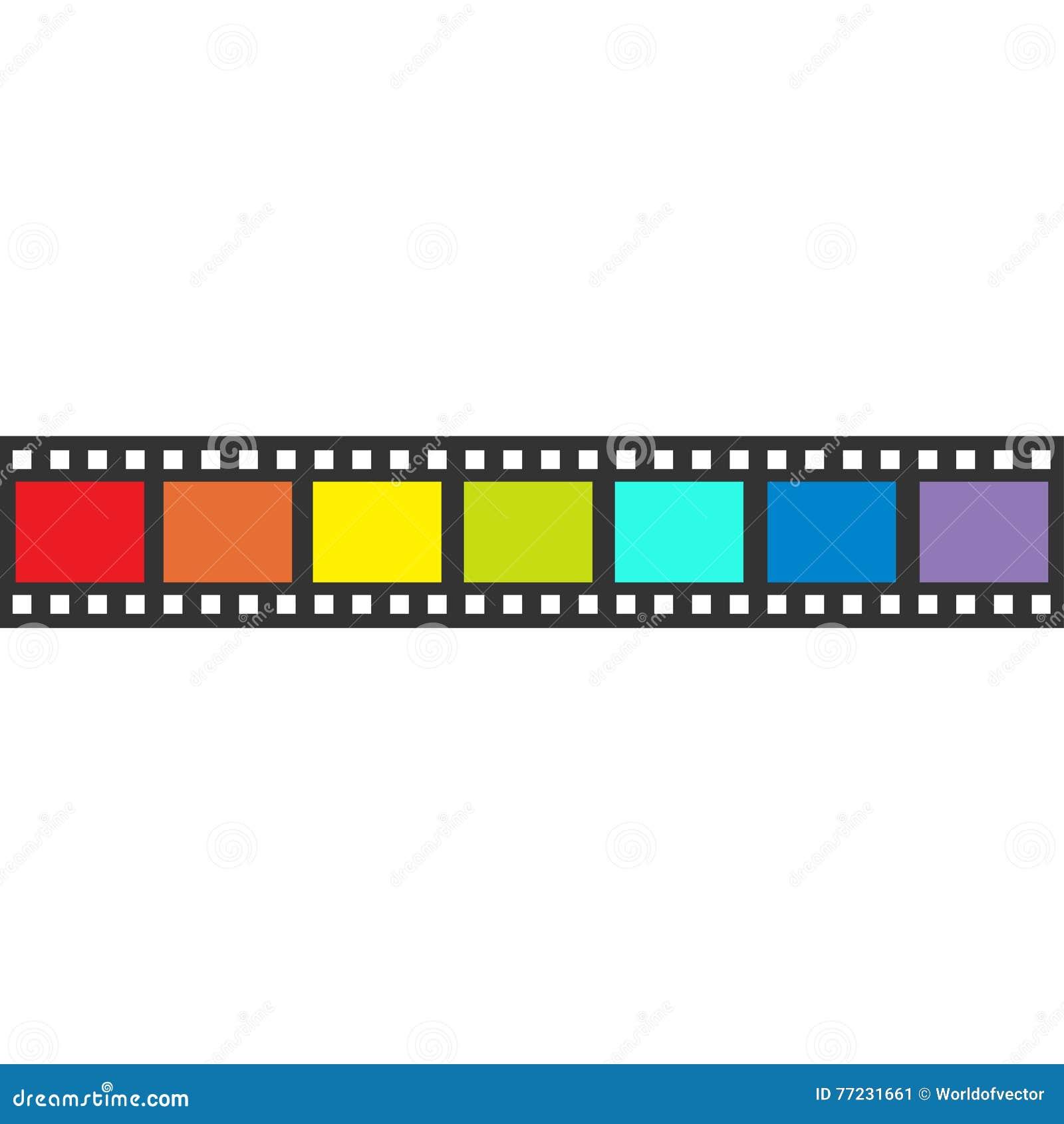 Rainbow Flag Film Strip Frame. Straight Shape Ribbon. Design Element ...