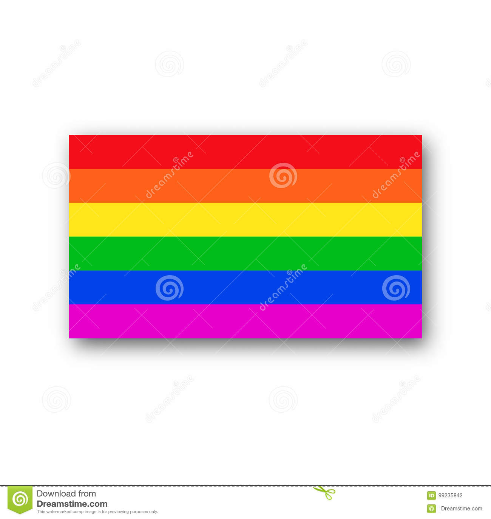 Rainbow Flag Lgbt Symbol Vector Stock Vector Illustration Of